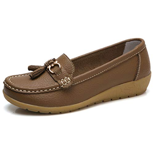 Women Shoes Boat Shoes Sneakers Genuine Leather Shoes Tassel Fringe Casual...