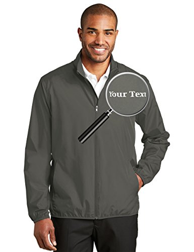 Custom Embroidered Jackets for Men - Windbreaker Zip Up Embroidery Coach Jacket -
