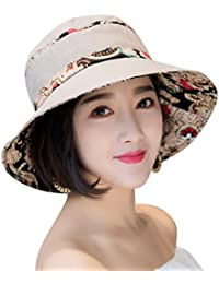 03a244e3178 Sun Hats for Women Packable Sun Hat Wide Brim UV Protection Beach Sun Cap