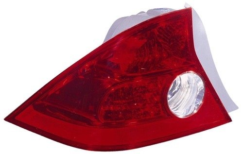 5 Honda Civic Rear Tail Light Assembly Replacement/Lens/Cover - Left (Driver) Side - (2 Door; Coupe) 33551-S5P-A11 HO2800155 (Rear Quarter Panel Standard Coupe)