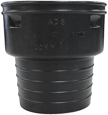 Amazon Com Ads 0662aahan Snap Corrugated To Clay Pipe Adapter Polyethylene 6 Home Improvement