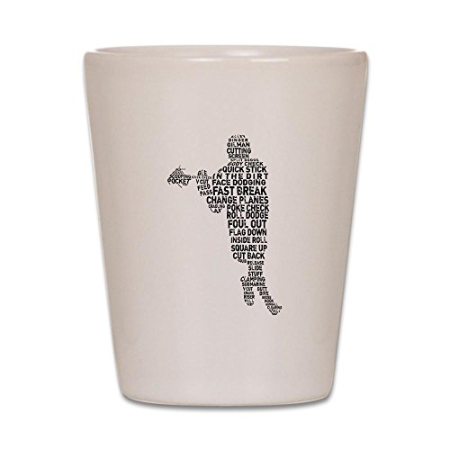 CafePress - Lacrosse Terminology - Shot Glass, Unique and Funny Shot - Terminology Glasses