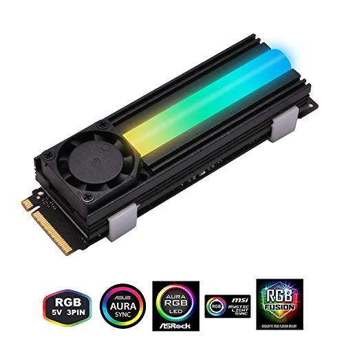 Disipador M.2 EZDIY-FAB 5V ARGB M.2 Heatsink SSD Cooler with