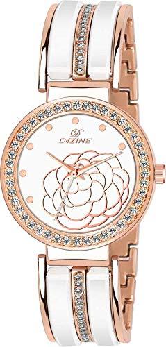 HEMT Dezine Series Analog Watch   for Women HM LR070 WHT CH