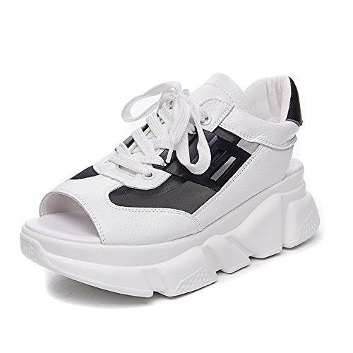NGRDX&G Sandalias, Zapatos Casuales Gruesos White Black
