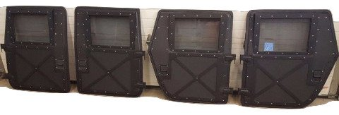 AL HUMVEE (TM) X-DOOR REPLACEMENT WINDOW GLASS - M998 HMMWV (Door Glass Precision Parts)