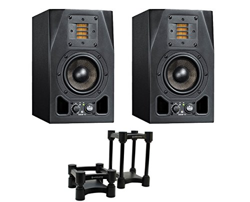 2x ADAM A3X Active Studio Monitor + IsoAcoustics Decoupler Stands by Adam