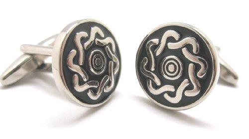 (Silver Celtic Knot Cufflinks Cuff Links Danish Waves of the Sea C1 Eternal Knot)