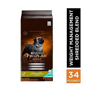 Purina Pro Plan With Probiotics, Weight Management Dry Dog Food, Shredded Blend Chicken & Rice Formula – 34 lb. Bag