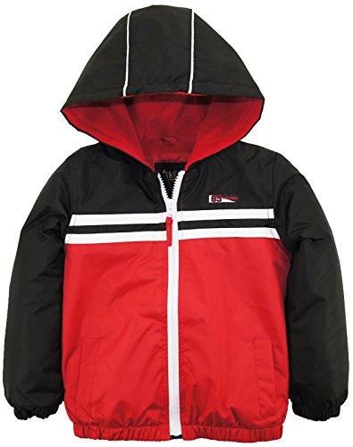 iXtreme Little Boys' Colorblock Jacket with Fleece Lining, Black,