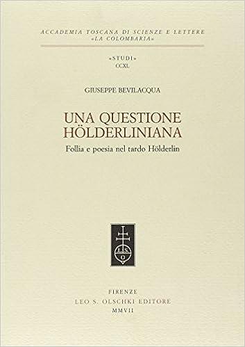 Giuseppe Bevilacqua, Una questione hölderliniana (cover)