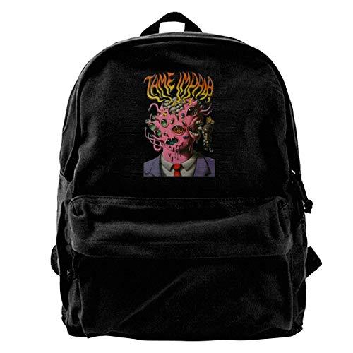Canvas Backpack Tame Impala Rucksack Gym Hiking Laptop Shoulder Bag Daypack For Men - Impala 40