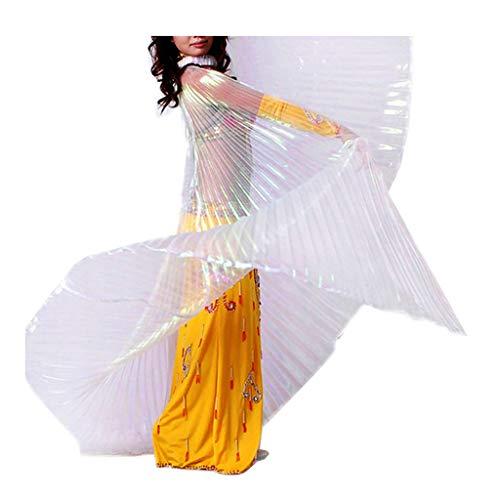 (Pilot-trade Women's Egyptian Egypt Belly Dance Costume Bifurcate Isis Wings Whtie)