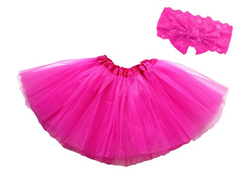 Dancina Tutu Headband Set Newborn Unisex Cute Photography Prop Flower Costume 6-24 months Hot (Megara Halloween Costume)
