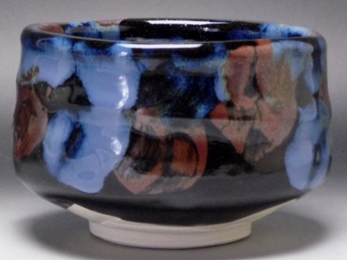 (San Cai deep sea blue green tea bowl)