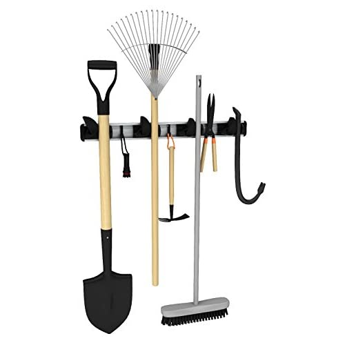 outlet Renegade 20-Inch 4 Grip and 3 Hooks Mop, Broom and Tool Holder