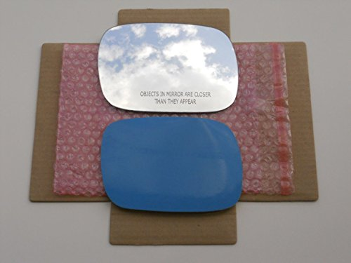 New Replacement Mirror Glass with FULL SIZE ADHESIVE for 1997-2001 JEEP CHEROKEE Passenger Side View Right -
