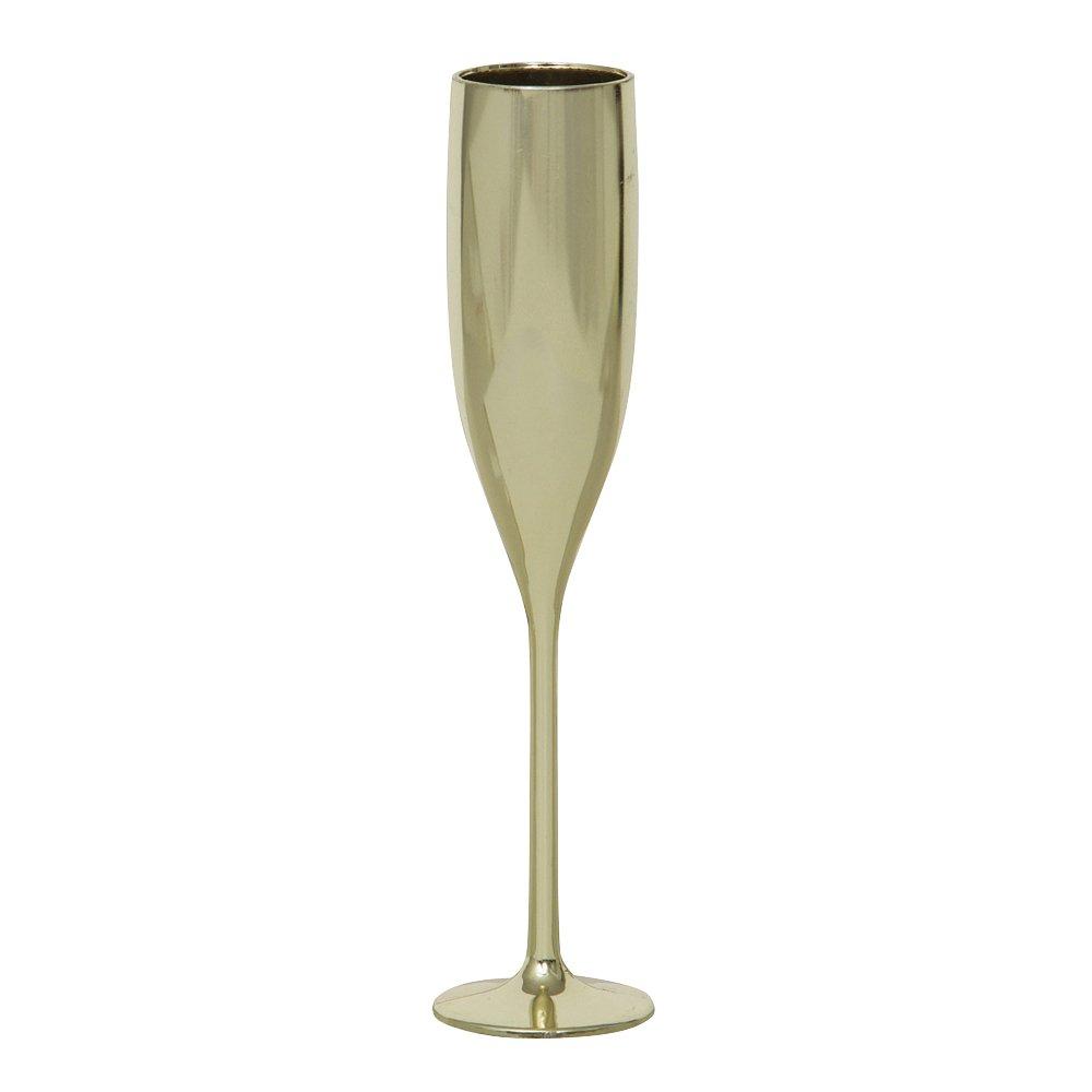 Amazon.com: Mini Plastic Gold Champagne Flute Wedding Favors, 2ct ...