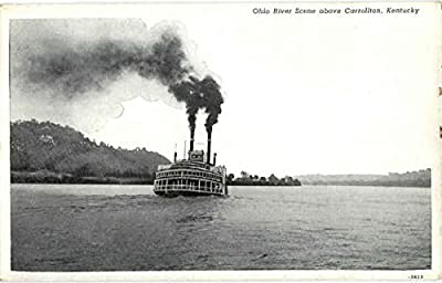 Ohio River Scene above Carrollton Carrollton, Kentucky Original Vintage Postcard