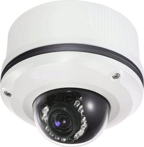 Varifocal Lens Heater - Toshiba 2 Mega Pixel IP/Network Dome Camera. Outdoor rated (IP66). Vandal Resistant. Built in IR LED's and Heater/Blower. PoE. 3-9mm Varifocal Lens.