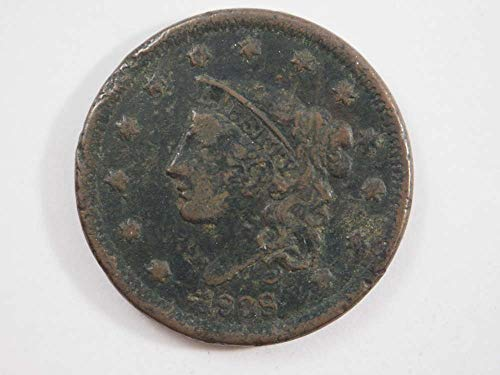 1838 P Coronet Large Cent Large Cents Ungraded