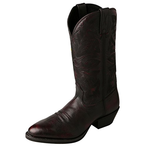 Twisted X Mens Burgundy Leather 13in Brush Off Western Cowboy Boots 11.5D