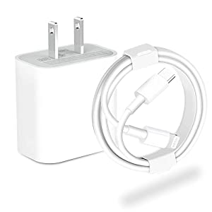 20W iPhone Fast Charger,USB C to Lightning Cable (2m/6.6ft) Compatible with iPhone 12 Pro Max/11 Pro Max/XS Max/XS/XR/X/iPad Pro/iPad Air and More