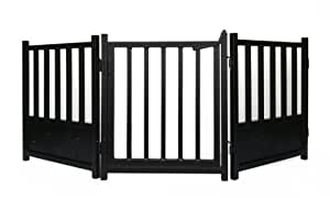 Royal Weave 3pc Freestanding Walk-thru Pet Gate + Side Panel Stabilizers