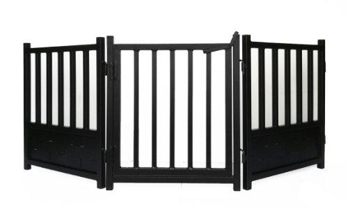 Cheap Royal Weave 3pc Freestanding Walk-thru Pet Gate + Side Panel Stabilizers