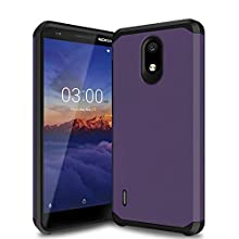 Trihey for Nokia 3.1a case,Nokia 3.1c case, [Dual Layer] Hybrid Shock Proof Protective Rugged Bumper Cover Case for Nokia 3.1a/3.1c. (Purple)