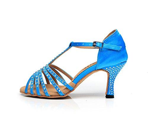 salón Light Heel Minitoo Blue 7 5cm mujer p8xqf