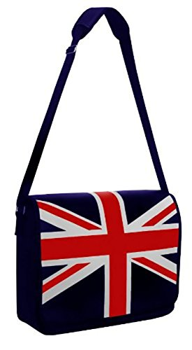 British Union Jack Flap Over Messenger Cross Body Shoulder Bag Navy (Union Jack Satchel compare prices)