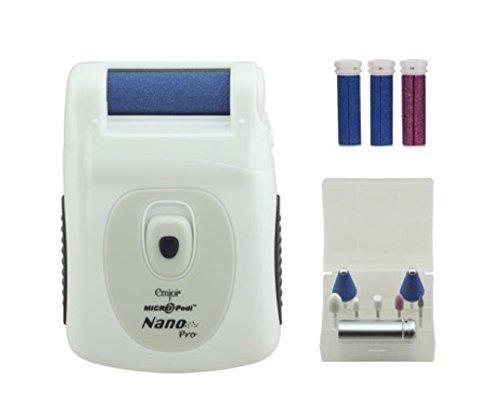 Emjoi Micro-Pedi Nano Pro Callus Remover w/ Manicure Kit & Extra Rollers (White) by Emjoi