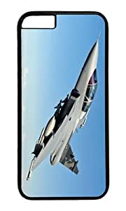 Aircraft altitude sky PC Black Hard Case for Apple iPhone 6(4.7 inch)