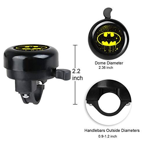 Batman Surmoler Classic Bike Bell Aluminum Loud Sound Bicycle Bell Bike Accessory for Adults Kids,Right Hand