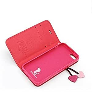 NEW Fashion Series Artificial Leather Protective Case with Support Function for iPhone 5/5S , White