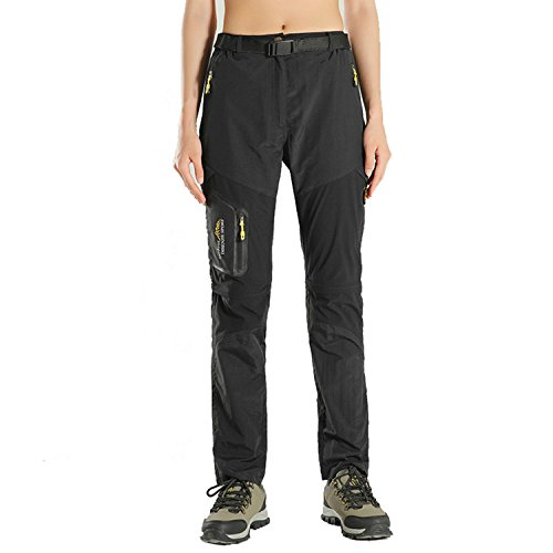 siwode Women's Outdoor Quick Dry Two-Section Lightweight Water-Resistant Hiking Pants by siwode