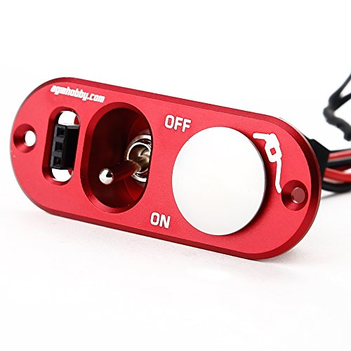 AGM® J-002 Heavy Duty Anodized Aluminum Single Power Switch with Fuel Dot Panel for RC Model(red)