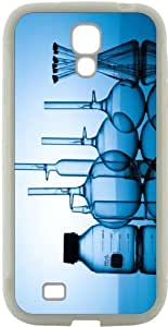 Rikki KnightTM Chemistry Science Lab Design Samsung? Galaxy S4 Case Cover (White Hard Rubber TPU with Bumper Protection) for Samsung Galaxy S4 i9500 by mcsharks
