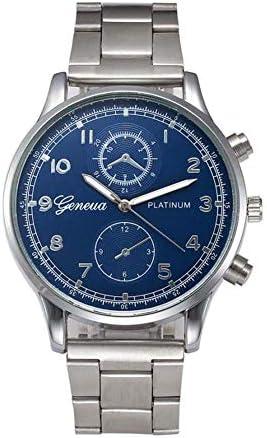 新しい高級スポーツ男性腕時計ファッションマンクリスタル男性時計ステンレス鋼アナログクォーツ腕時計