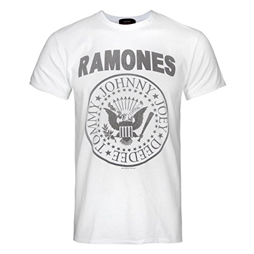 Amplified Ramones Blanc Officiel shirt Homme T xqfgAxB