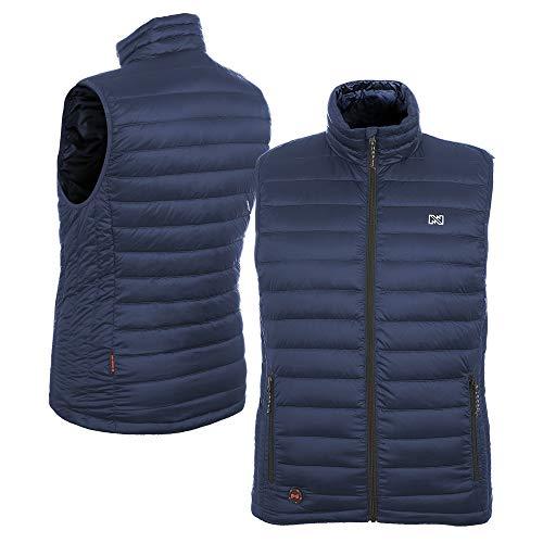 Hunting Down Vest (Mobile Warming Men's Endeavor Bluetooth Battery Heated Down Vest (12V), Dark Navy, Large)