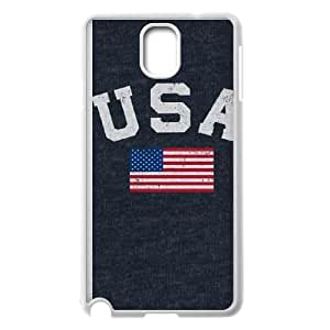 Samsung Galaxy Note 3 Cell Phone Case White_USA with American Flag Autko