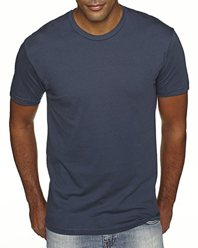 Next Level Premium Fit Extreme Soft Rib Knit Jersey T-Shirt, Indigo, Medium Premium Knit Tee