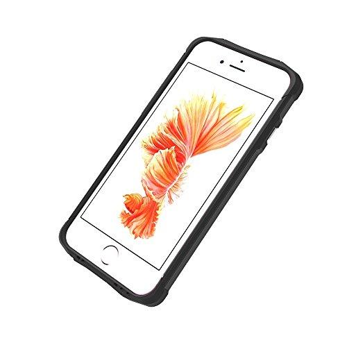 Phone Taschen & Schalen Für iPhone 6 Plus und 6s Plus TPU + PC Stahl Rüstungskoffer ( Color : Black )