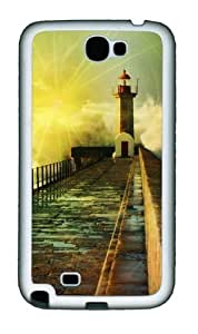 3D Fantasy Road Personalized Samsung Galaxy Note 2/ Note II/ N7100 Case and Cover - TPU - Black