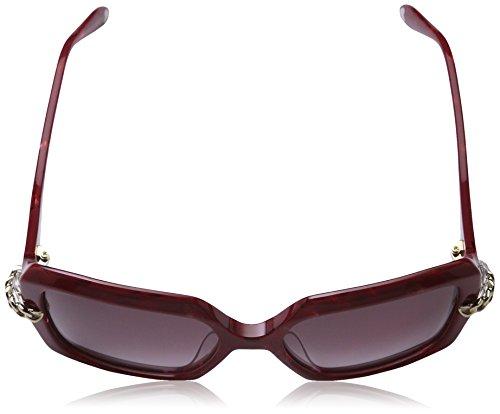 d9b58a5a78455 Grey Moschino - Lunette de soleil MO769S Rectangulaire - Femme Red frame   brown sh. Grey