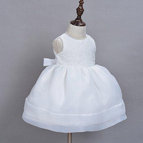 Happy Cherry - (set de 2) Falda para Bautizo Fiesta Boda de Niñas Bebés Recien nacido con Sombrero de Encaje Faldas de Princesa sin Mangas - Blanco - Talla ...
