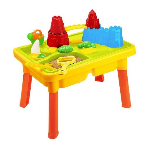 Sandbox Castle 2-in-1 Sand and Water Table with Beach Play Set for Kids by Liberty Imports (Image #1)
