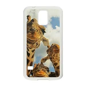 HOPPYS Customized Print Giraffe Hard Skin Case For Samsung Galaxy S5 I9600